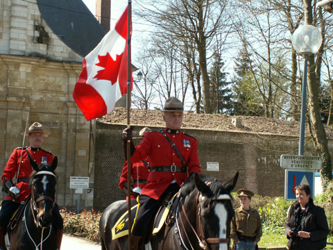 Superintendent John Gaudet Leads the parade out of the Citadelle