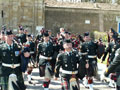 Then the pipes and drums