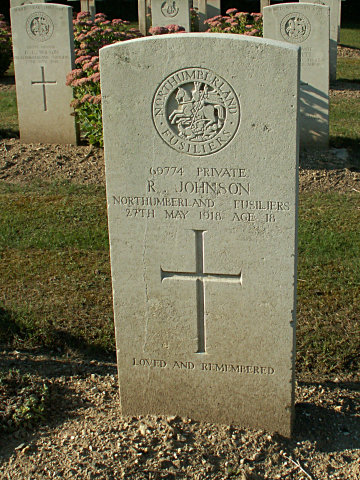 Private R Johnson
