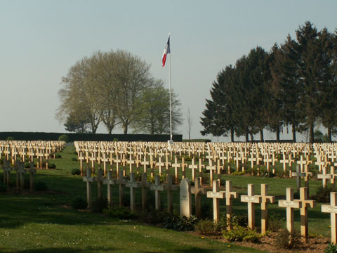 The French Military Cemetery at Cerny en Laonnois