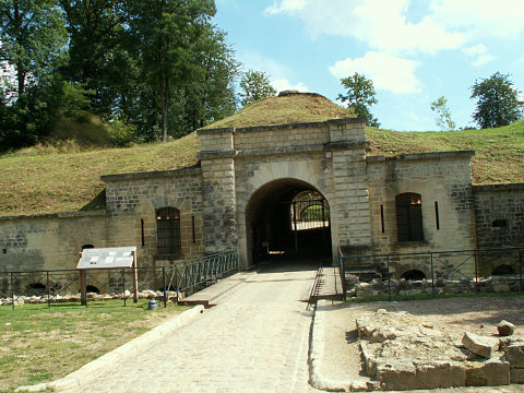 The entrance to the fort