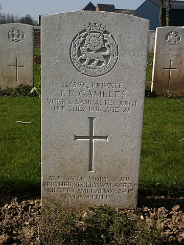 Private Thomas Gambles
