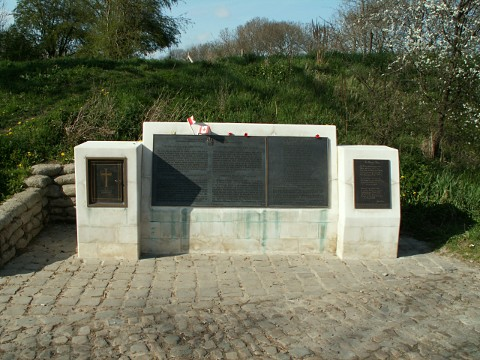 The monument to Lt Col McCrae
