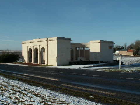 The Memorial in snow