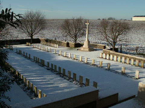The cemetery in snow