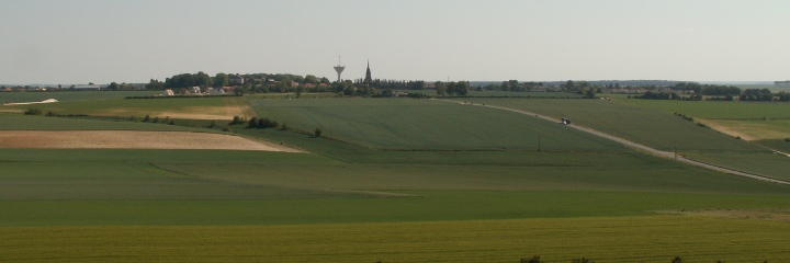 Looking towards Villers Bretonneux