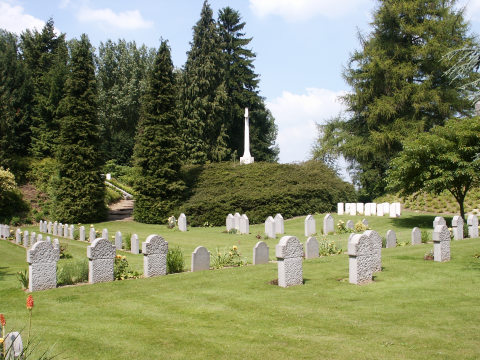 German and British graves