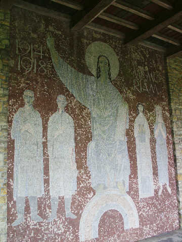 Part of the mosaic within the chapel