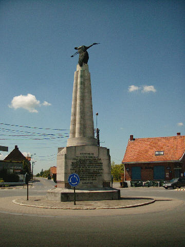 The Guynemer Monument at Poelkapelle