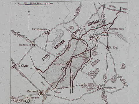 Part of the explanatory panel showing the map