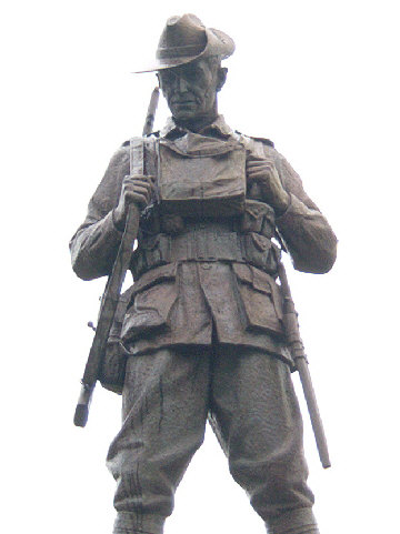 The Australian Statue at Mont St Quentin