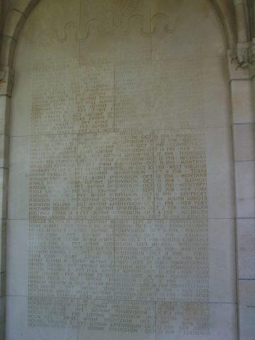 Names of  the Missing on the Chapel's Exterior Walls