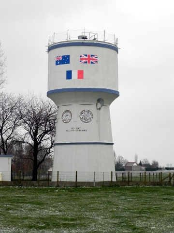 The water tower at Bullecourt