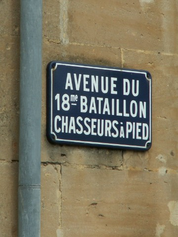 Avenue of the 18th Chasseurs in Stenay