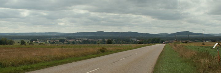 General von Etzel's view from the Pillon road towards Mangiennes