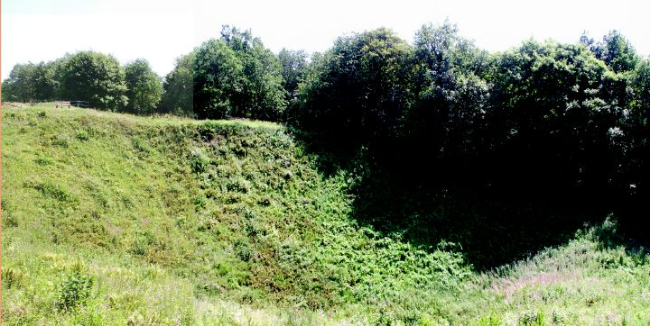 The largest mine, blown on 14 May 1916