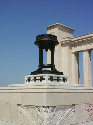 The central urn on its pedestal