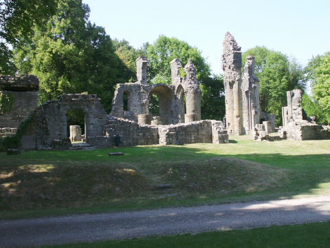 The ruins of the church