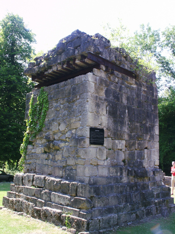 A German observation post built from the church ruins