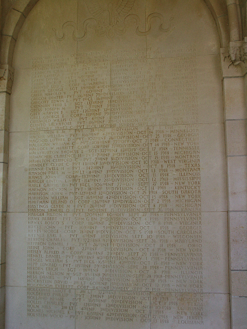 Names of the missing inscribed on the chapel walls