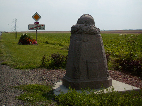 The demarcation stone at Villers-Bretonneux