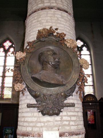Medallion to Foch in Cassel church