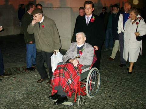 Harry Patch at the Menin Gate