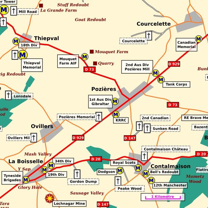 The general area around Pozières