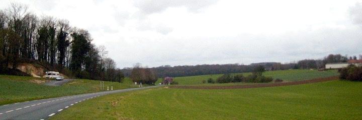 The road towards Mametz Village