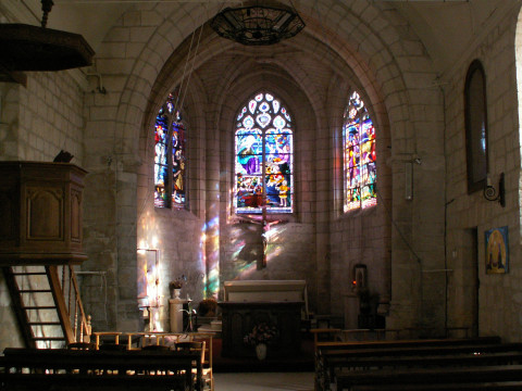The interior of the church at Rethondes