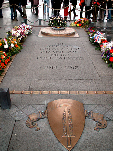 The Unknown Soldier at the Arc de Triomphe