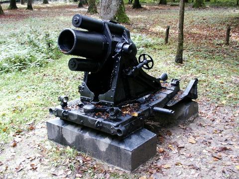 German trench mortar -- 17 cm minenwerfer