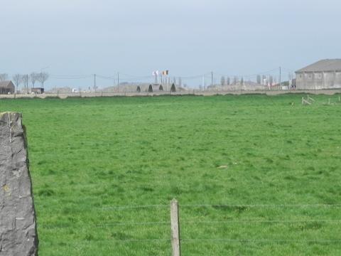 The Grenadiers memorial in the field behind