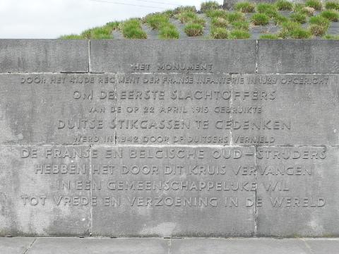 The inscription in Flemish