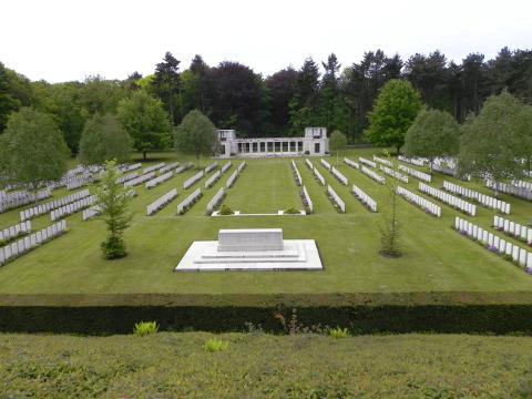 Looking down towards the New Zealand Memorial