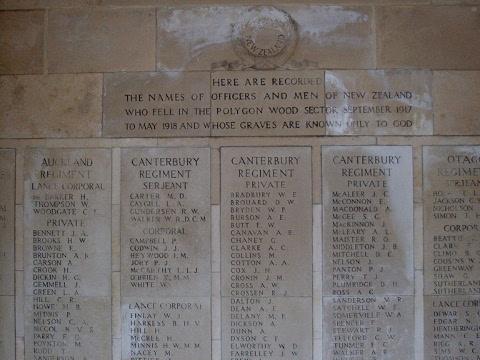 Buttes New British (NZ) Memorial
