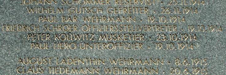 Peter Kollwitz Musketier