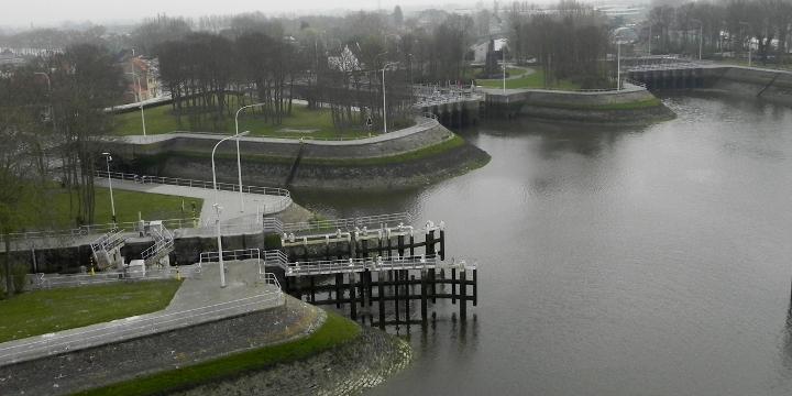The sluice gates at Nieuwpoort