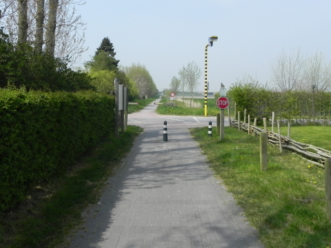 Looking along the Frontzaat cycle route
