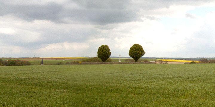Looking towards Hawthorn Ridge Cemetery No 1