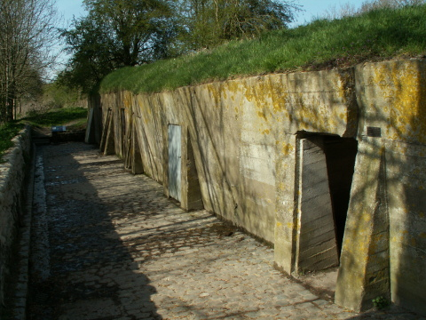 The concrete bunkers of the new dressing station