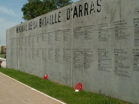 The Battle of Arras Memorial