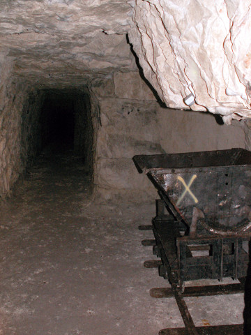 One of the tunnels leading off from the main gallery