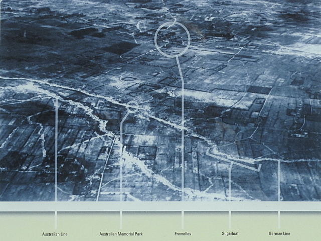 Aerial photography of the battlefield