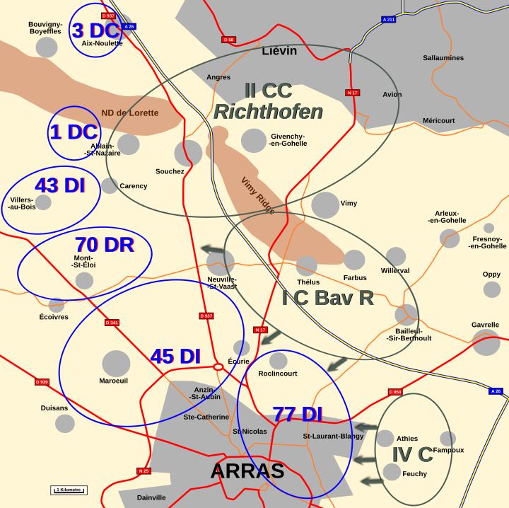 Map : Artois 6th October 1914