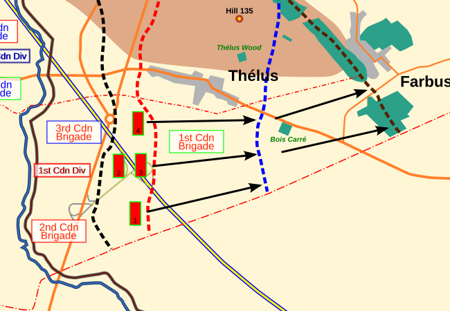 1st Canadian Division : second advance