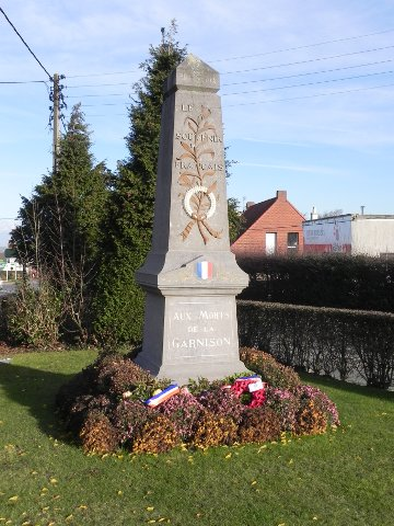 The memorial to the French Garrison of 1940