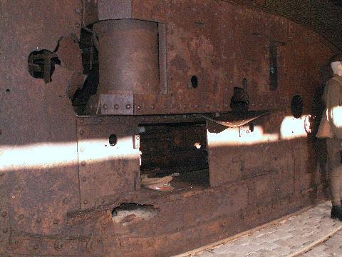 Female tank's escape hatch