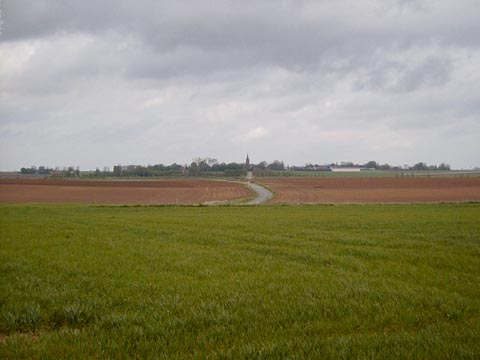 Looking back towards Gueudecourt