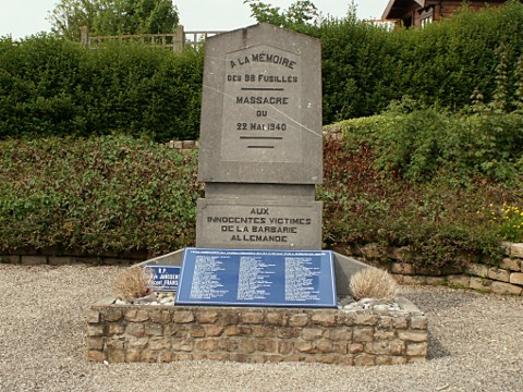 Monument to the SS Massacre at Aubigny